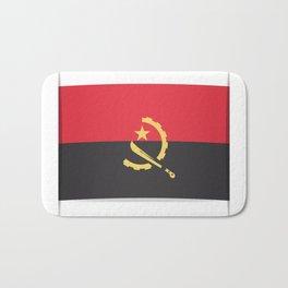 Flag of Angola, officially the Republic of Angola.  Bath Mat