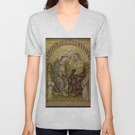 Gentile da Fabriano - Coronation of the Virgin Unisex V-Neck