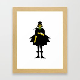 Gothic and Crow Framed Art Print