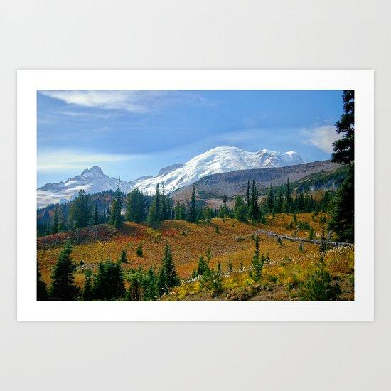 Mt. Rainier fine art print Art Print