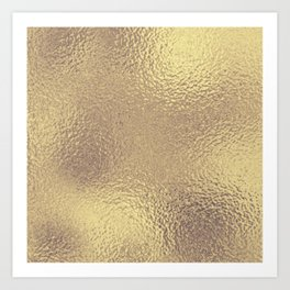 Simply Metallic in Antique Gold Art Print