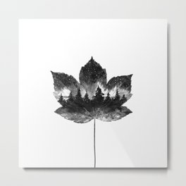 Leaf of the forest Metal Print