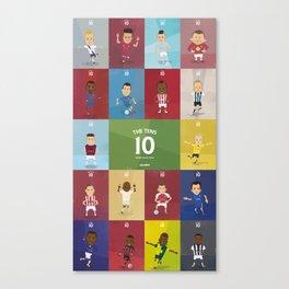 The Tens  Canvas Print