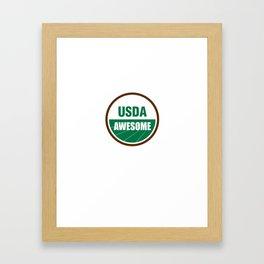 USDA AWESOME Framed Art Print
