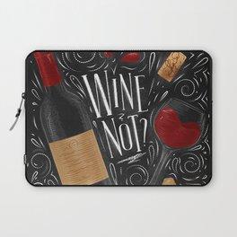 Wine not black Laptop Sleeve