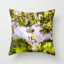 Jungle Algae Throw Pillow