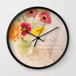Summer Floral* Wall Clock
