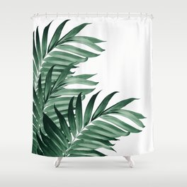 Palm Leaves Tropical Green Vibes #3 #tropical #decor #art #society6 Shower Curtain