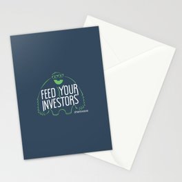Feed your investors Stationery Cards