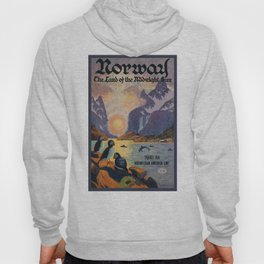 1925 Norway Land Of The Midnight Sun Travel Poster Hoody