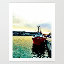 Fishermans Boat - Howth Harbour Art Print