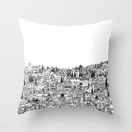 Albaicin View from the Alhambra, Granada, Spain Throw Pillow