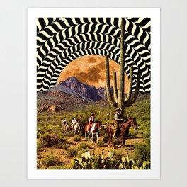 Illusionary Cowboys Art Print