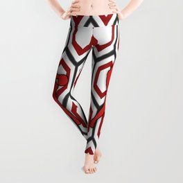 Basketball Player in Red and White Leggings