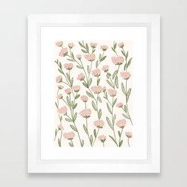 Rose Garden Pattern Framed Art Print