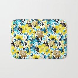 Happy Yellow Flower Collage Bath Mat