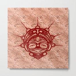 Blood Frog Copper Metal Print