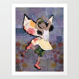 Fighter Faerie Art Print