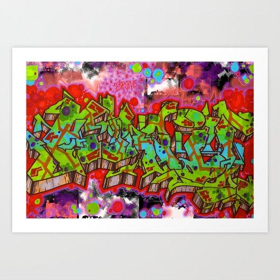 forgive graffiti Art Print