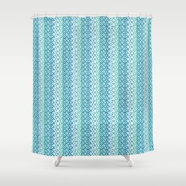 Abstract Fishing Net Loop Pattern Shower Curtain