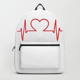 EKG Heart Backpack