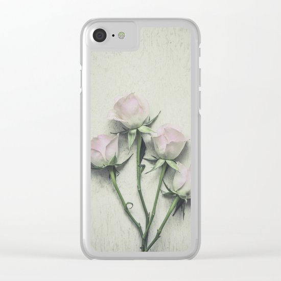 Delicate Roses Clear iPhone Case