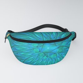 Floral in Sea Colors Fanny Pack