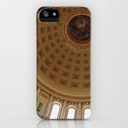 The rotunda of the Capitol building in Madison, Wisconsin iPhone Case