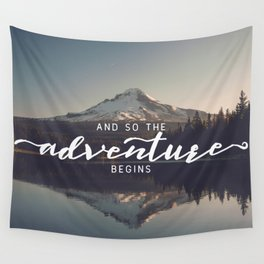 Trillium Adventure Begins - Nature Photography Wall Tapestry