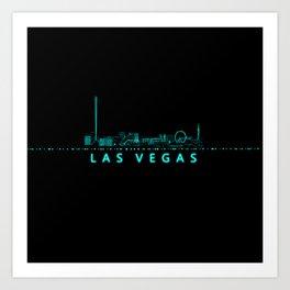 Digital Cityscape: Las Vegas, Nevada Art Print