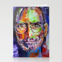 steve jobs Stationery Cards featuring steve jobs by yossikotler