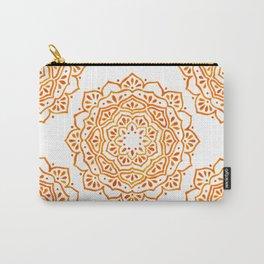 Orange Mandala Carry-All Pouch