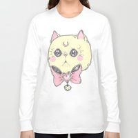 meow Long Sleeve T-shirts featuring Meow by lOll3
