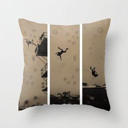 Man Falls Throw Pillow