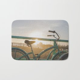 Bike & Beach in Sunny Manhattan Beach, California Bath Mat
