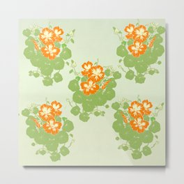 The Green and the Orange Metal Print