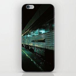 Blue train iPhone Skin