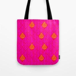 PLANTAIN PALACE - RED/PINK/ORANGE Tote Bag