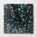 Black and Blue Abstract by patternmaker