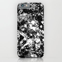 Bad Memories - black and white abstract painting iPhone Case
