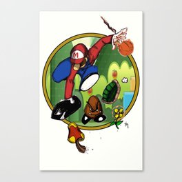 Mario landS Canvas Print