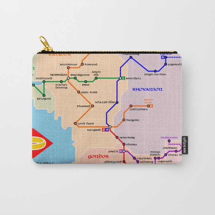 Fantastic metro map Carry-All Pouch