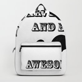 Awesome Dads Fuuny Fathers Day Gifts Backpack