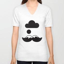 Mustache in the Mountain Unisex V-Neck