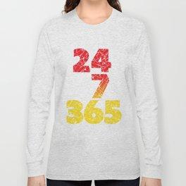 24-7/365 (Red hustle) Long Sleeve T-shirt