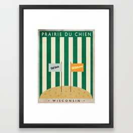 Pete's Hamburger Stand | Prairie du Chien, Wisconsin Framed Art Print
