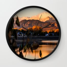 Crisp Rocky Mountain Morning Wall Clock