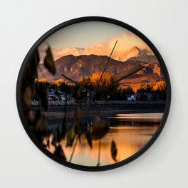 Crisp Rocky Mountain Morning Wall Clock