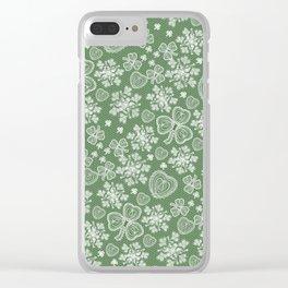 Irish Lace Clear iPhone Case