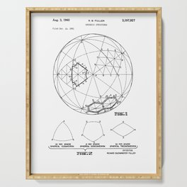 Buckminster Fuller 1961 Geodesic Structures Patent Serving Tray